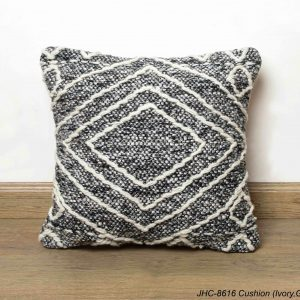 Cushion  JHC-8616  Ivory Grey  18x18