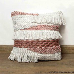 Cushion  JHC-8619  Ivory Pink  18x18