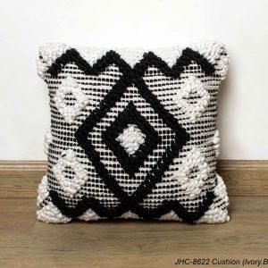 Cushion  JHC-8622  Ivory Black  18x18