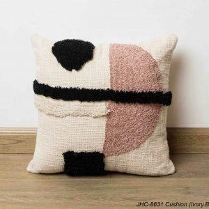 Cushion  JHC-8631  Ivory Black  16x16