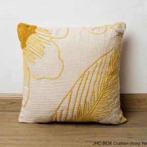 Cushion  JHC-8636  Ivory Yellow  16x16