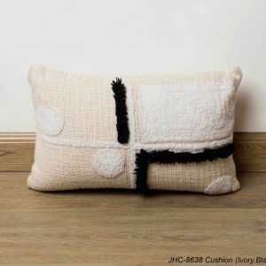Cushion  JHC-8638  Ivory Black  16x16