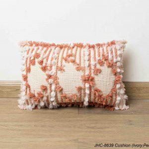 Cushion  JHC-8639  Ivory Peach  16x16
