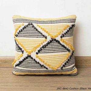 Cushion  JHC-8642  Black Yellow  16x16