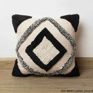 Cushion  JHC-8648  Ivory Black  16x16