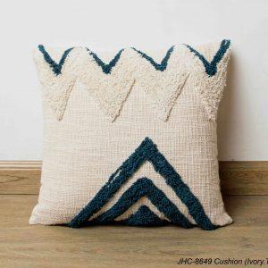 Cushion  JHC-8649  Ivory Teal  16x16