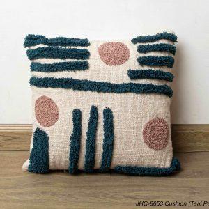 Cushion  JHC-8653  Teal Peach  16x16
