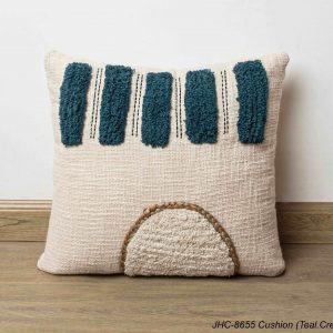 Cushion  JHC-8655  Teal Cream  16x16
