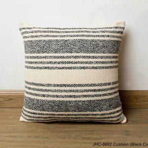 Cushion  JHC-8662  Black Cream  16x16