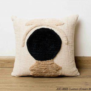 Cushion  JHC-8665  Cream Black  18x18