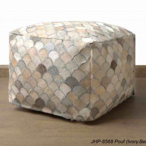 Handmade JHP Poufs Ivory Beige 20x20x14 inch