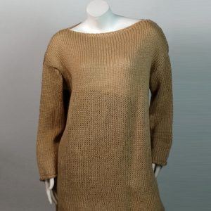 2021 Mohair Sweater Women Autumn and Winter Knitting Top Fashion Casual  Sweater  Women Clothing - Khaki - Extra Large