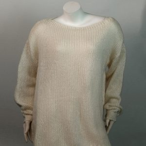 2021 Mohair Sweater Women Autumn and Winter Knitting Top Fashion Casual  Sweater  Women Clothing - White - Extra Large