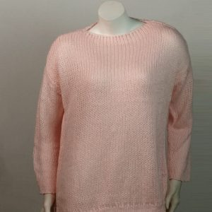 2021 Mohair Sweater Women Autumn and Winter Knitting Top Fashion Casual  Sweater  Women Clothing - Pink - Extra Large